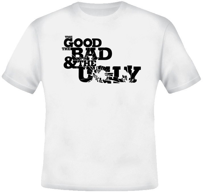 The Good The Bad The Ugly Western Retro Movie T Shirt