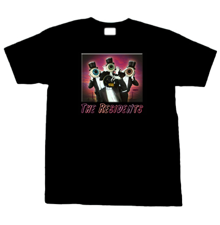 The residents cult rock band t shirt for Banded bottom shirts canada