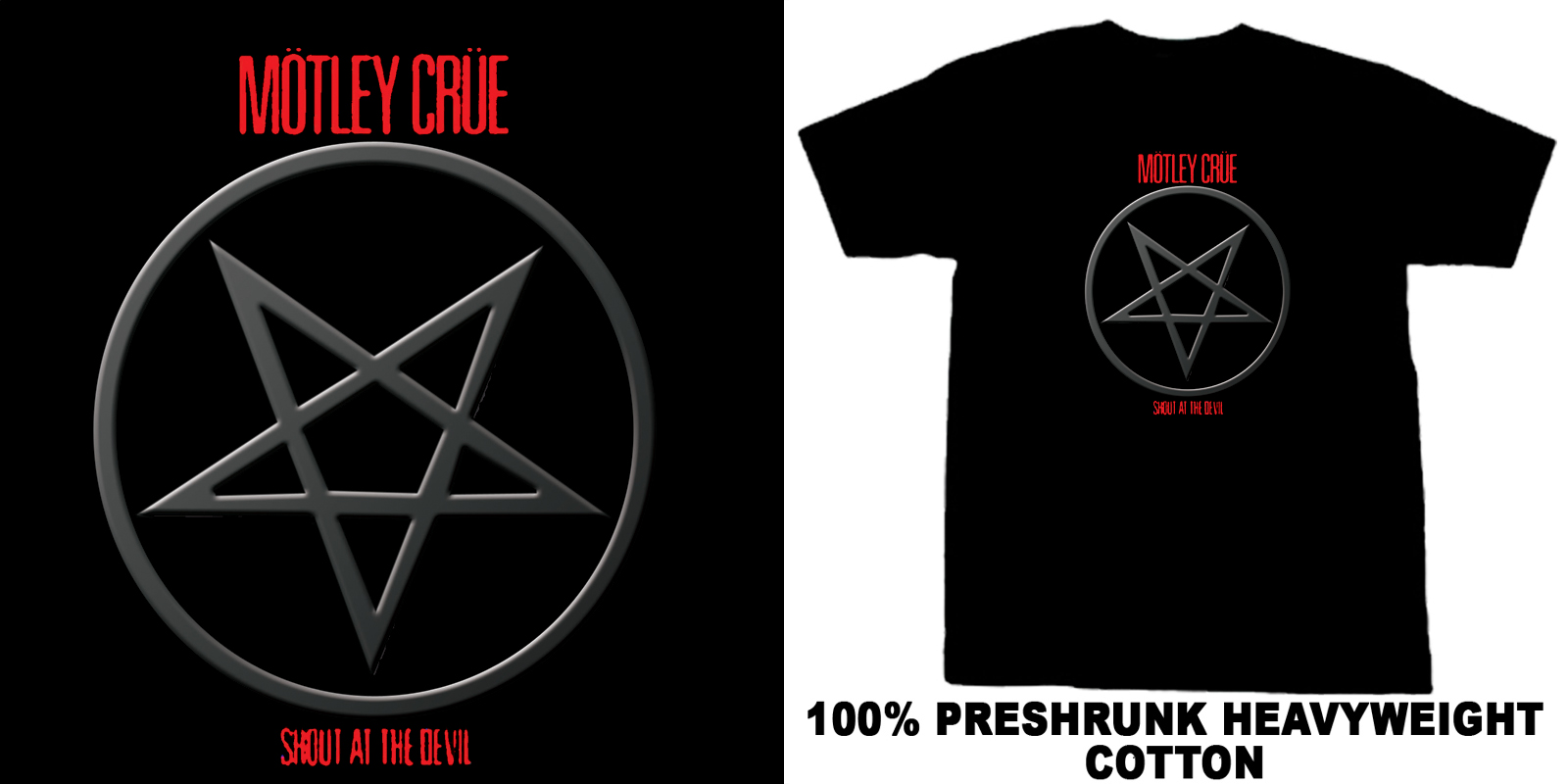 Motley Crue Shout at the devil faded & distorted  T Shirt
